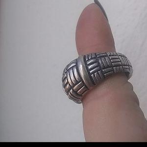 Heavy Sterling vintage ESPO ring